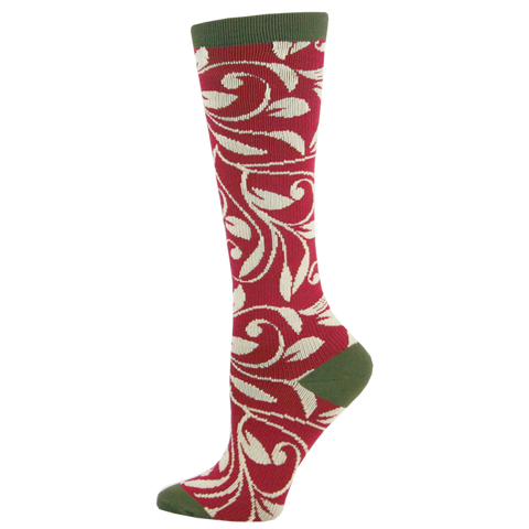 Think Medical Olive Vine Womens Compression Socks for Nurses