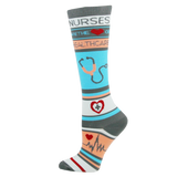 Think Medical Nurses Are The Heart Of Healthcare Womens Compression Socks for Nurses