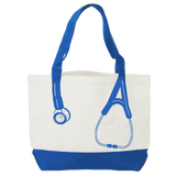 Think Medical Nurse Bag Canvas Stethoscope Blue Print Tote Handbag - Great Gifts For Nurses