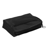 Nylon Zippered Tote Handbag Nurse Bag Organizer - Black