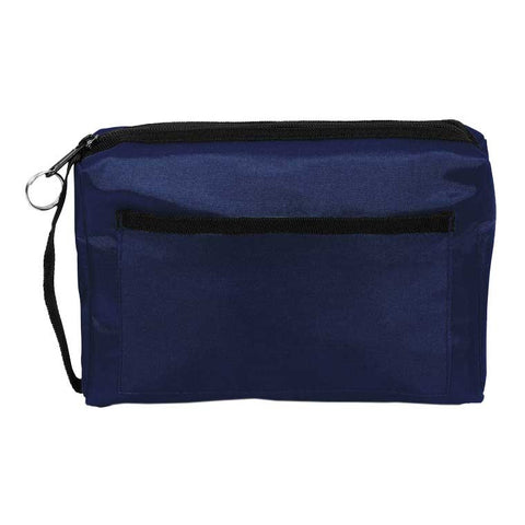Nylon Zippered Tote Handbag Nurse Bag Organizer - Navy