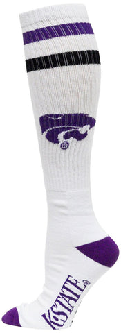 Men's Kansas State Wildcats NCAA White Knee High Tube Socks