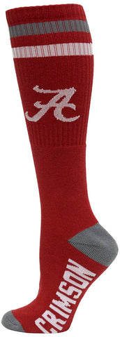 Men's Alabama Crimson Tide NCAA Red Knee High Tube Socks