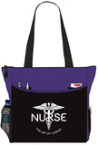Nurse The Art Of Caring Caduceus Tote Bag Handbag Personal Organizer - The Nurse Place - 1