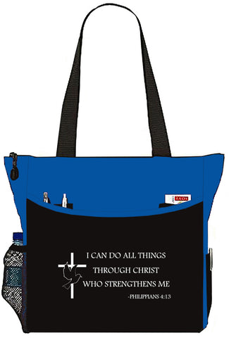 Philippians 4:13 I Can Do All Things Christian Bible Cover Tote Bag - The Nurse Place - 5