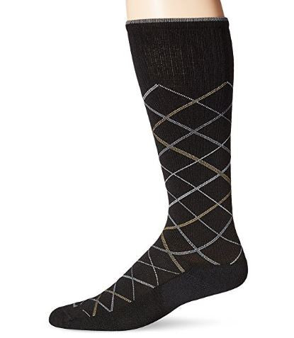 Sockwell Men's Black Smooth Vibe Firm (20-30mmHg) Graduated Compression Socks Size 10-13