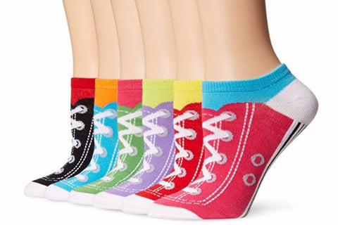 K.Bell Converse Sneaker Women's Low Cut / No Show Socks 6 Pairs Size 9-11