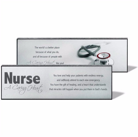 A Caring Heart Nurse Plaque Sign - Great Gifts For Nurses