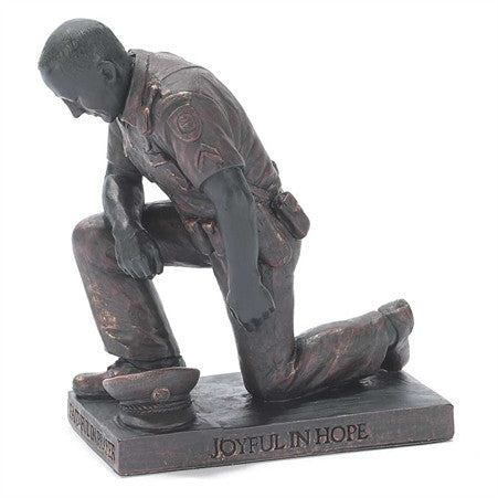 Police Called To Pray Figurine Inspirational Praying Sculpture - Great Gifts For Nurses