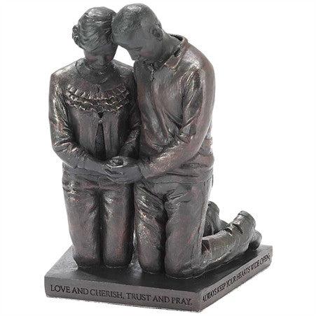 Husband & Wife Called To Pray Figurine Inspirational Praying Sculpture - Great Gifts For Nurses