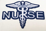 Caduceus Nurse Blue Durable Decal
