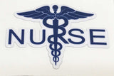 Caduceus Nurse White Durable Decal