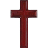 Cherry Raised Christian Wall Crucifix Cross