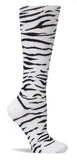 Nurse Mates Zebra Stripes Womens Compression Socks For Nurses Size 9-11