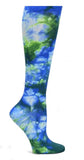 Nurse Mates Royal Green Tie Dye Womens Compression Socks For Nurses Size 9-11