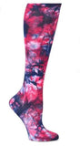 Nurse Mates Navy Raspberry Tie Dye Womens Compression Socks For Nurses Size 9-11