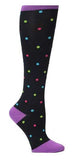 Nurse Mates Bright Dots Womens Compression Socks For Nurses Size 9-11