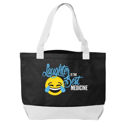 Think Medical White Laughter Is The Best Medicine Tote Handbag - Great Gifts For Nurses