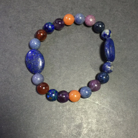 "7.5"" Multi Gemstone Bracelet"