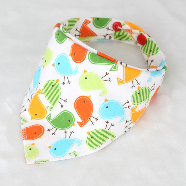 New Arrival 100% Cotton Fiber Newborn Bibs Cartoon Triangle  Baby Bib Burp Cloth Infant Scarf