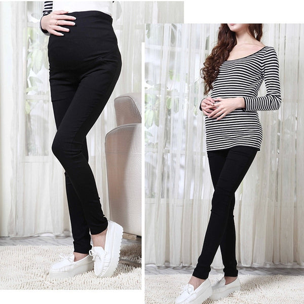 Maternity Cotton Slim Belly Pants - maternityessentialss.com