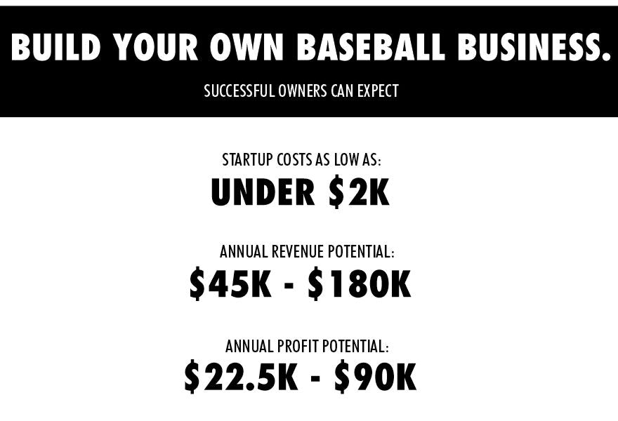 Build your own baseball business with Steelo - franchise opportunity - grow your own business