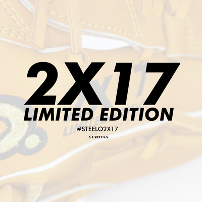 Limited Edition STEELO2X17 Custom Pro-Steer Series Outfielder's Glove - 12.75 Inch LHT