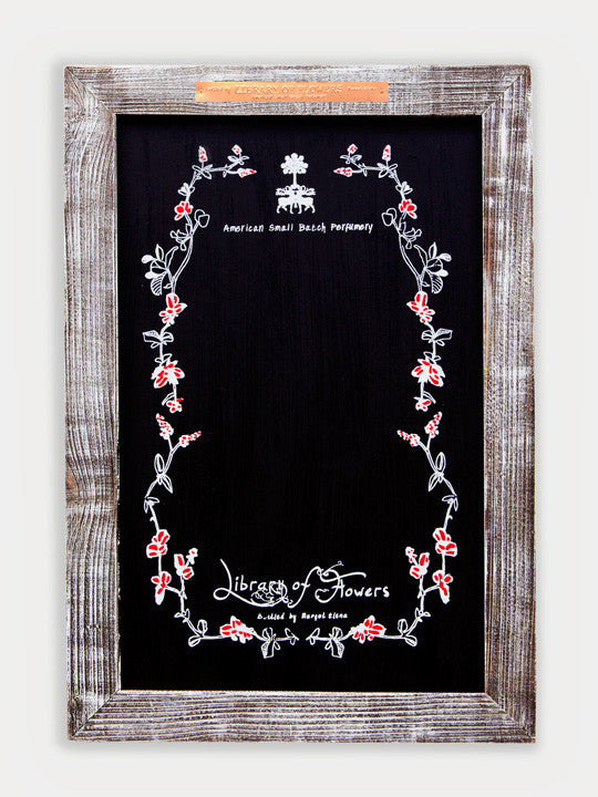 Library of Flowers Easel Chalkboard