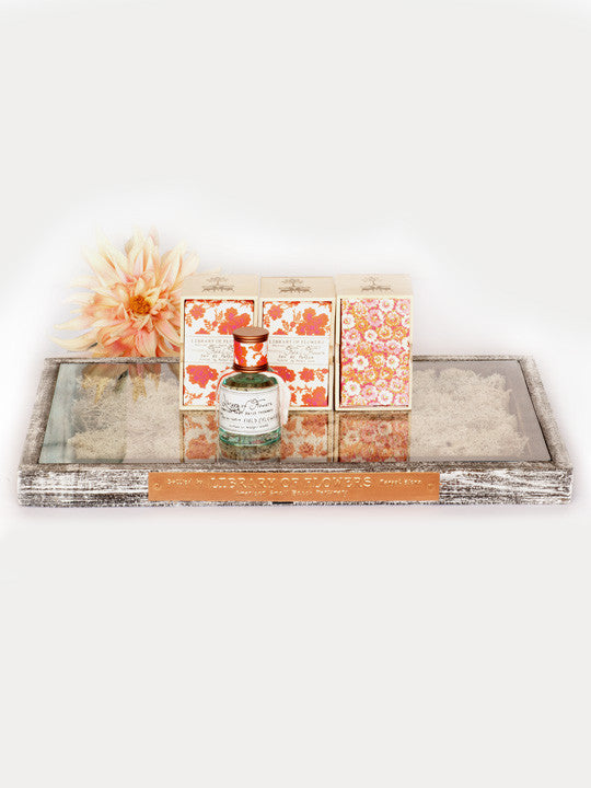 Library of Flowers Tray with Moss