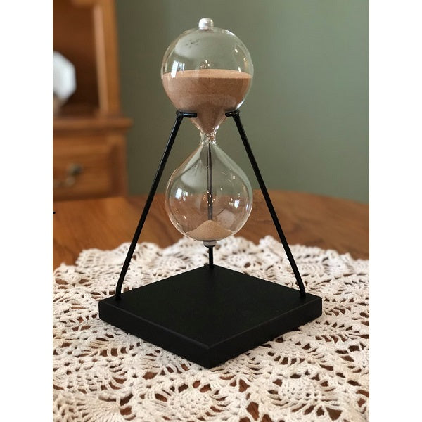 50 Minute Modern Glass Timer on Stand