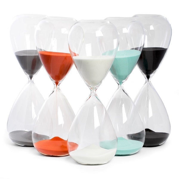 90 Minute Hand Blown Sand Timer
