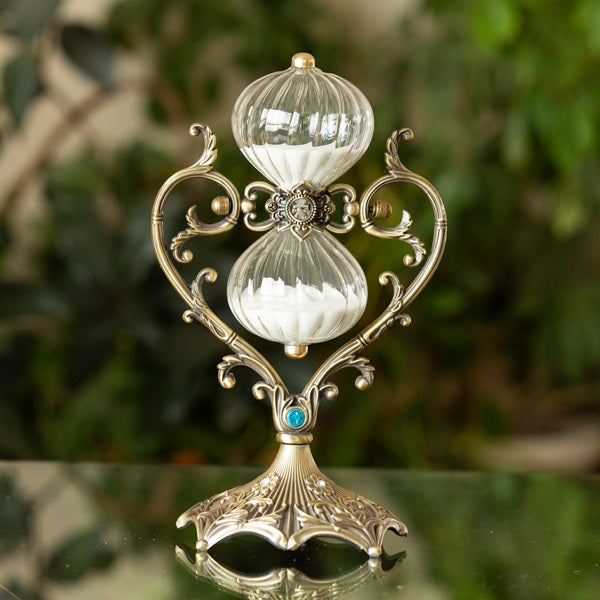 Heart Vintage Style Rotating Hourglass