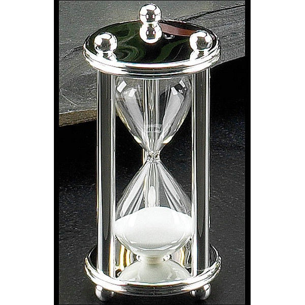 Silver Plated Hourglass 5 Minute image