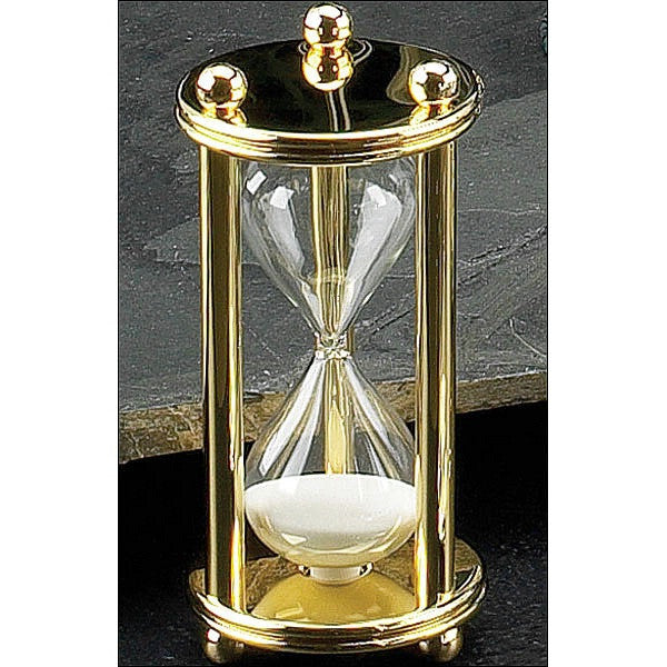 Gold Plated Hourglass 5 minute image