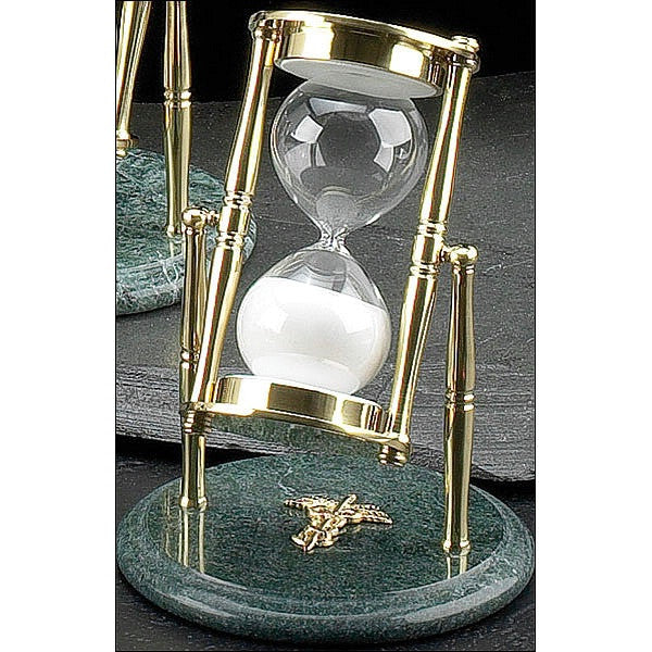 Green Marble and Brass  Hourglass Medical image