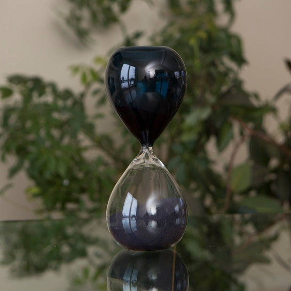 60 Minute Hand Blown Bicolor Sand Timer - Purple, Blue or Amber
