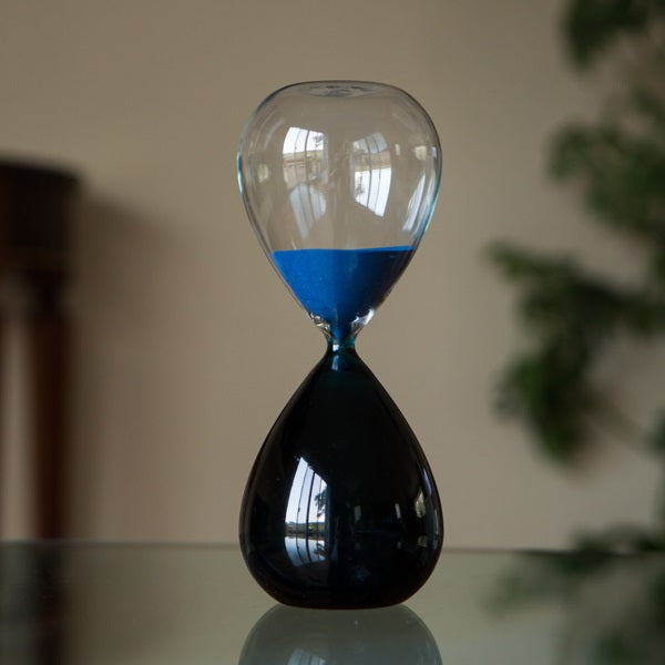60 Minute Bicolor Blue Hourglass