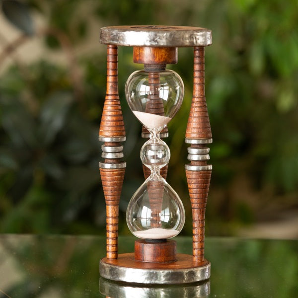 Three Tier Five Minute Antique Wood Sand Timer