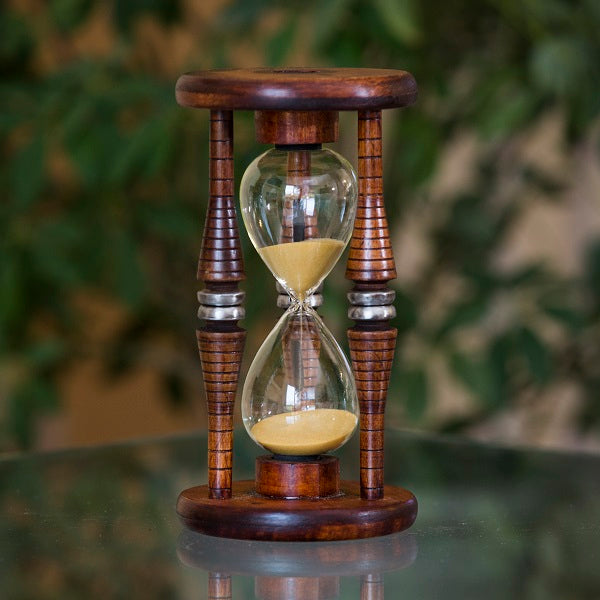 15 Minute Antique Wood Sand Timer
