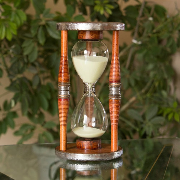 60 Minute Antique Wood Hourglass Sand Timer