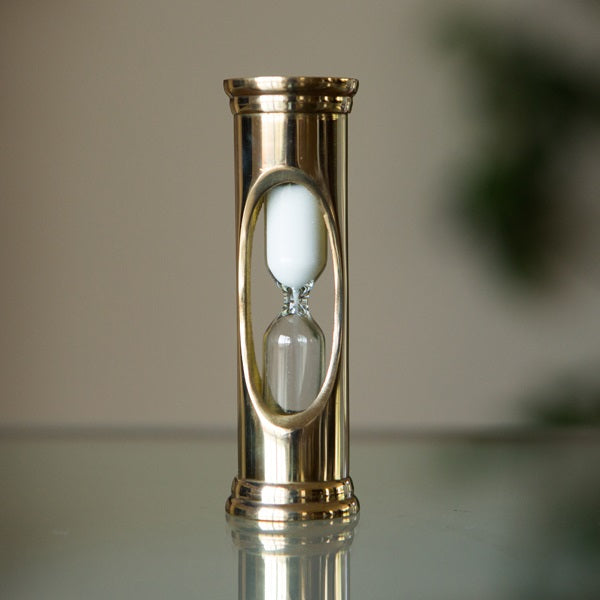 3 Minute Bronzed or Brass Mini Sand Timer