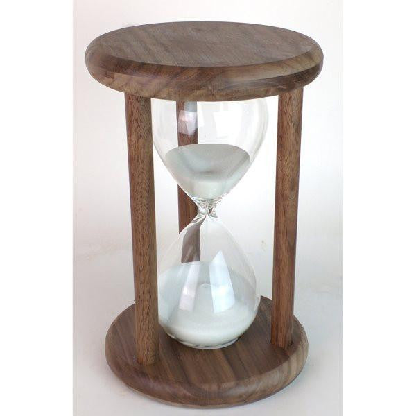 Solid Walnut Hourglass 60 Minute