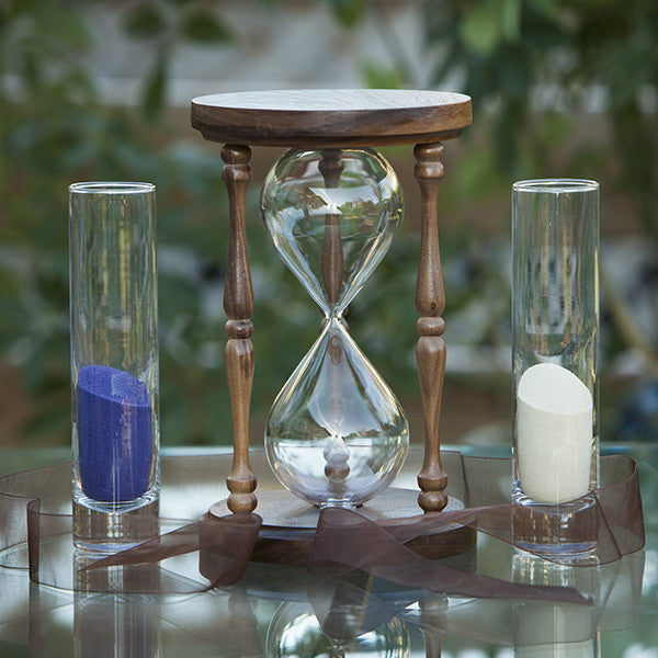 Decorataive Walnut Hourglass Sand Ceremony Package