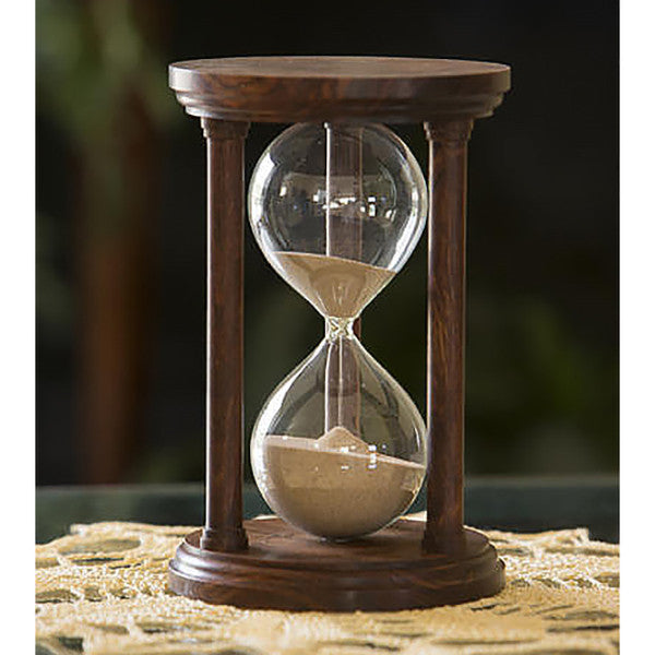 Solid Chechen Wood Hourglass With Smooth Spindles