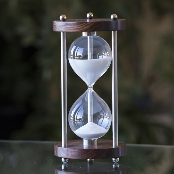 50 Minute Chechen Hourglass Hourglass with Metal Spindles