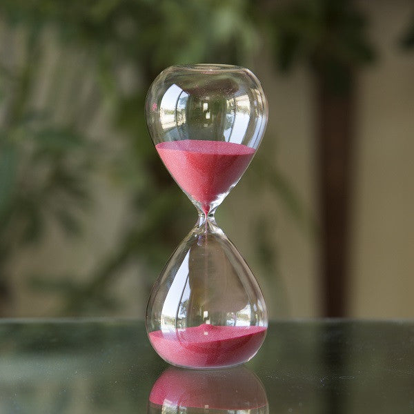 Freestanding Hourglass with Red Sand 50 Minute