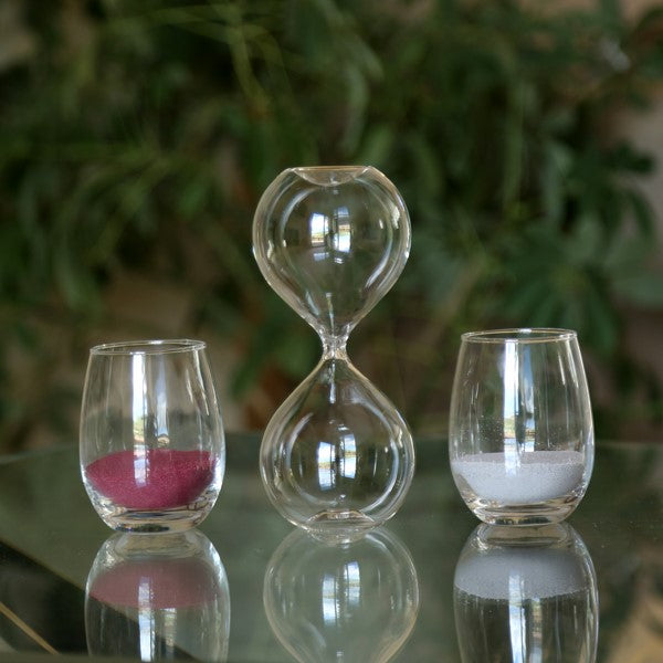 Freestanding Fillable Hourglass Sand Ceremony Package