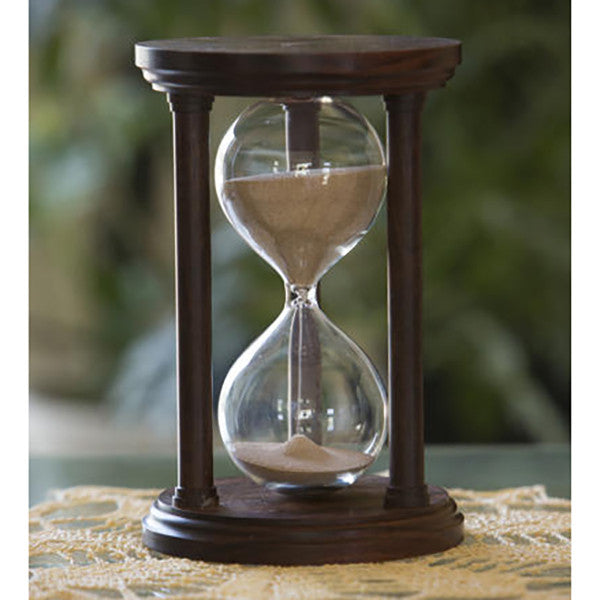 Solid Granadillo Wood Hourglass With Smooth Spindles - JustHourglasses