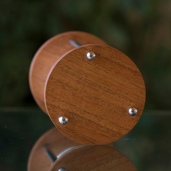 Solid Figured Mahogany Hourglass Kit With Metal Spindles