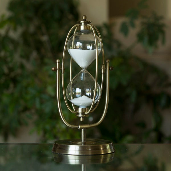 60 Minute Brass Flip-over Hourglass Timer